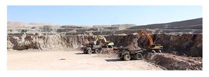 انجام عملیات باطله برداری و استخراج از معدن مس چاه فیروزه