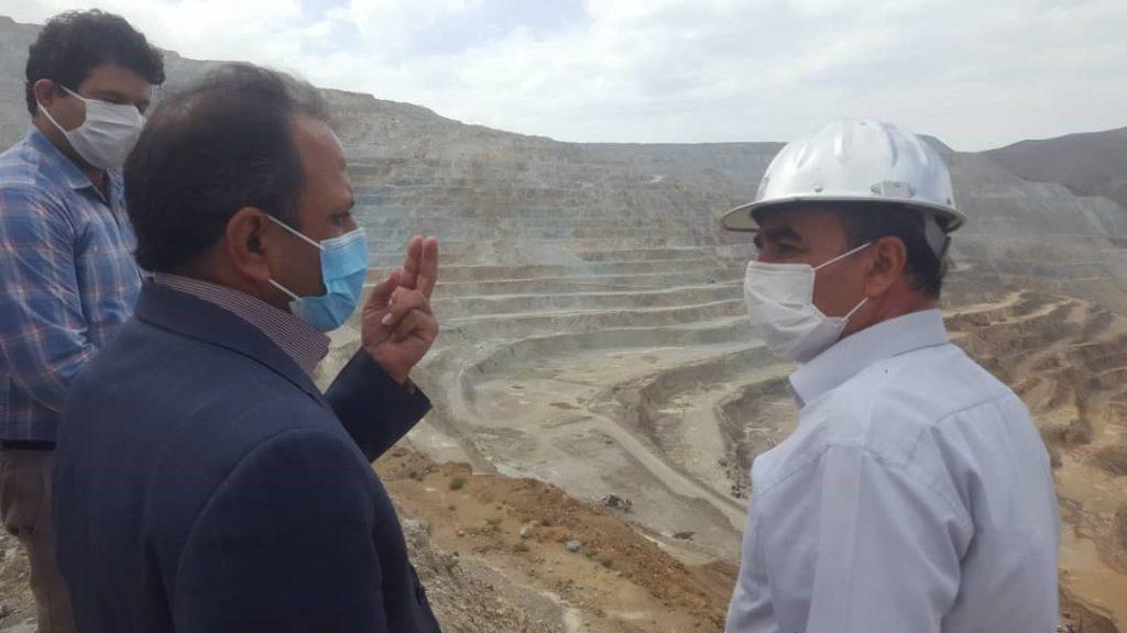 گزارش تصویری از بازدید فرماندار شهرستان ورزقان جناب مهندس باقر خانی از پروژه مس سونگون شرکت مبین