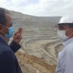 Image report of the visit of the Varzgan County's governor, Mr. Bagherkhani, form the Sungun Copper Project of the Mobin Company